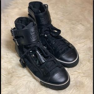Black coach High top tennis shoes